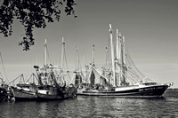 Shrimp Boats in B&W